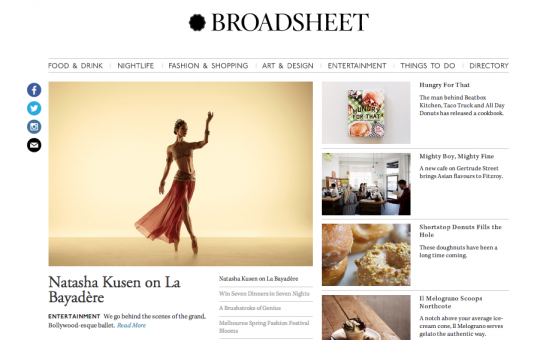 Broadsheet Articles